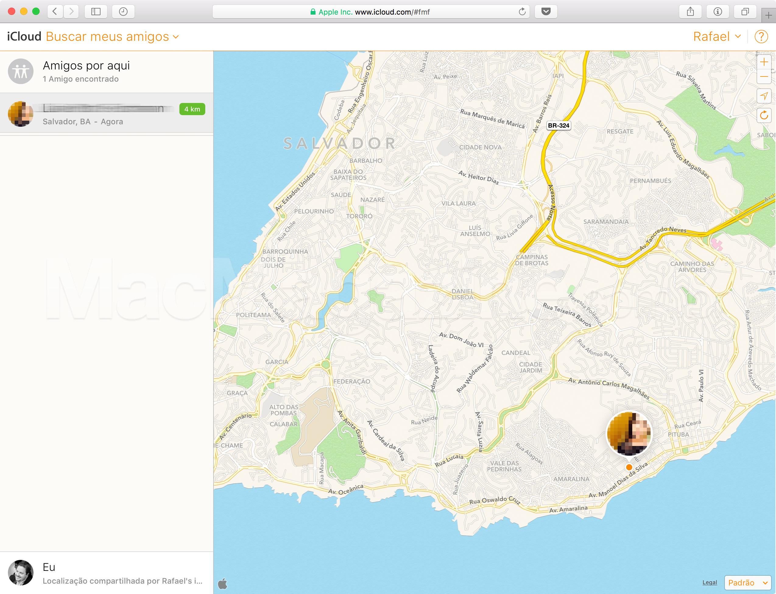 Buscar Meus Amigos no iCloud.com