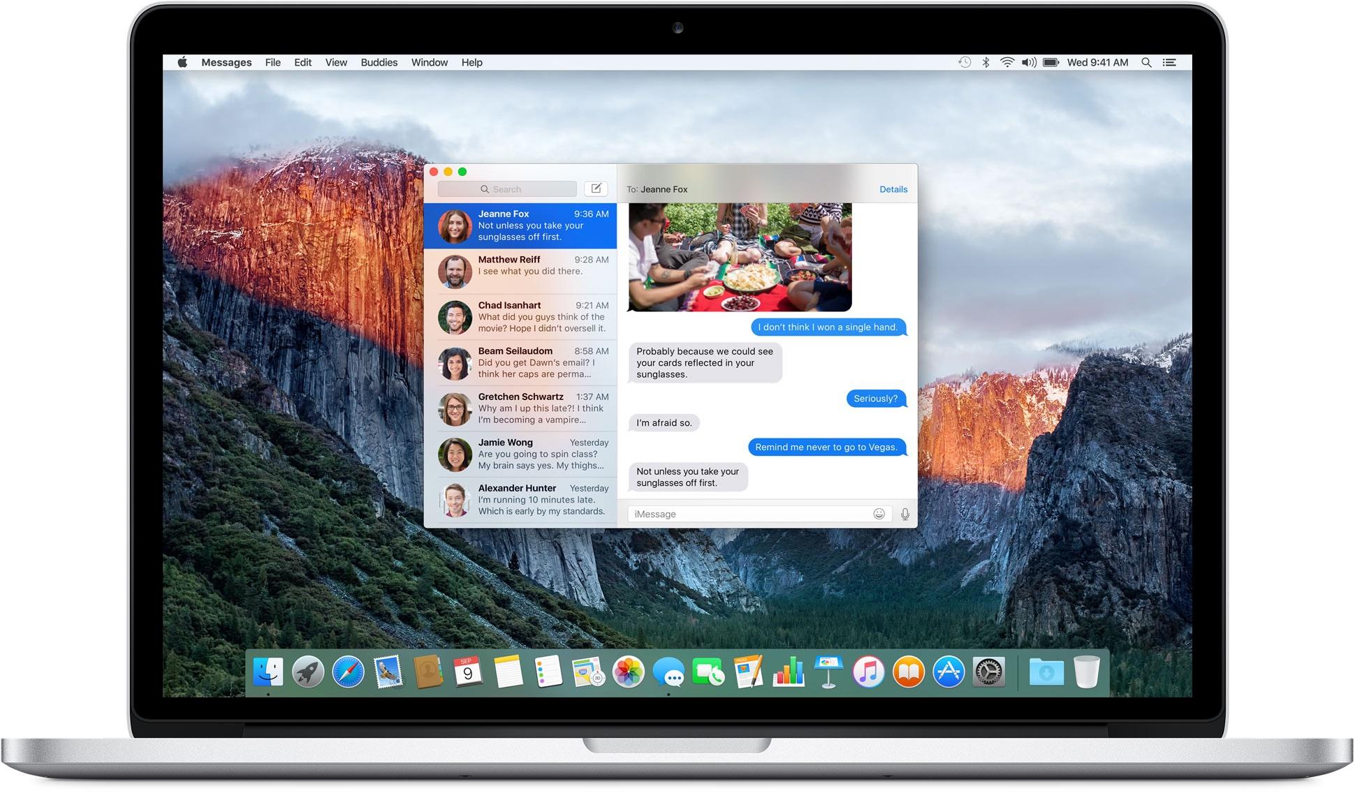 Aplicativo Mensagens para OS X