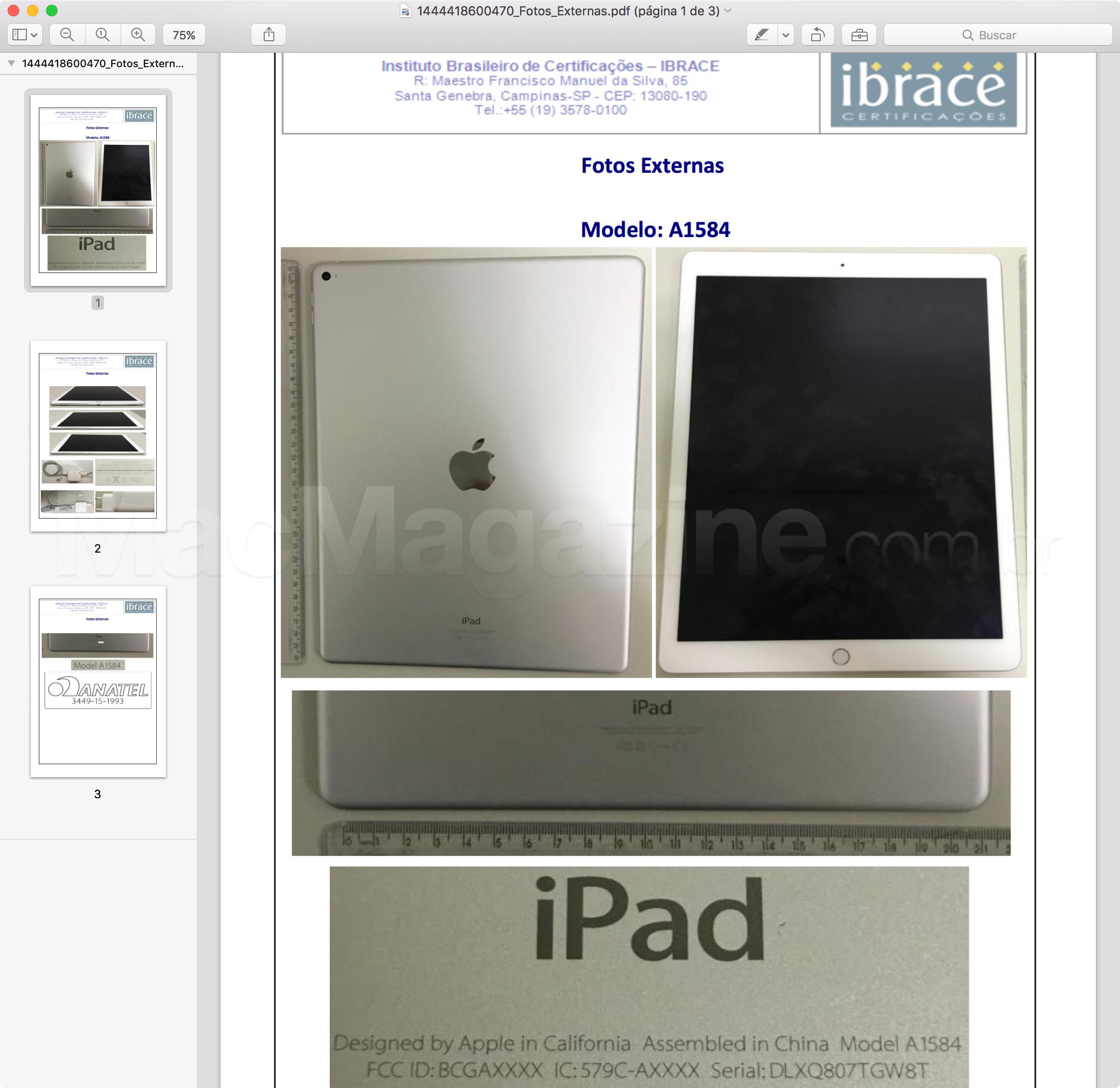 Anatel homologa o iPad Pro Wi-Fi