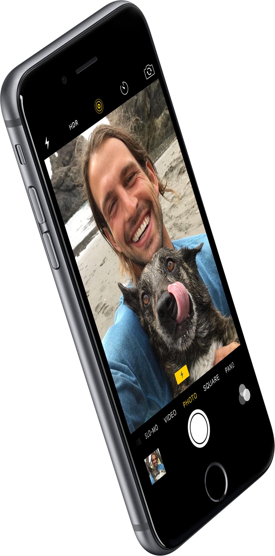 Câmera FaceTime HD do iPhone 6s com flash