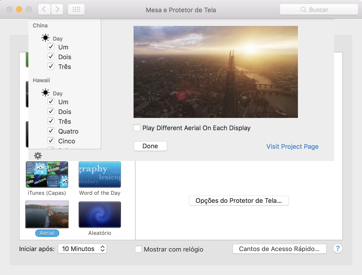 Instalando o Aerial (protetor de tela para Macs)