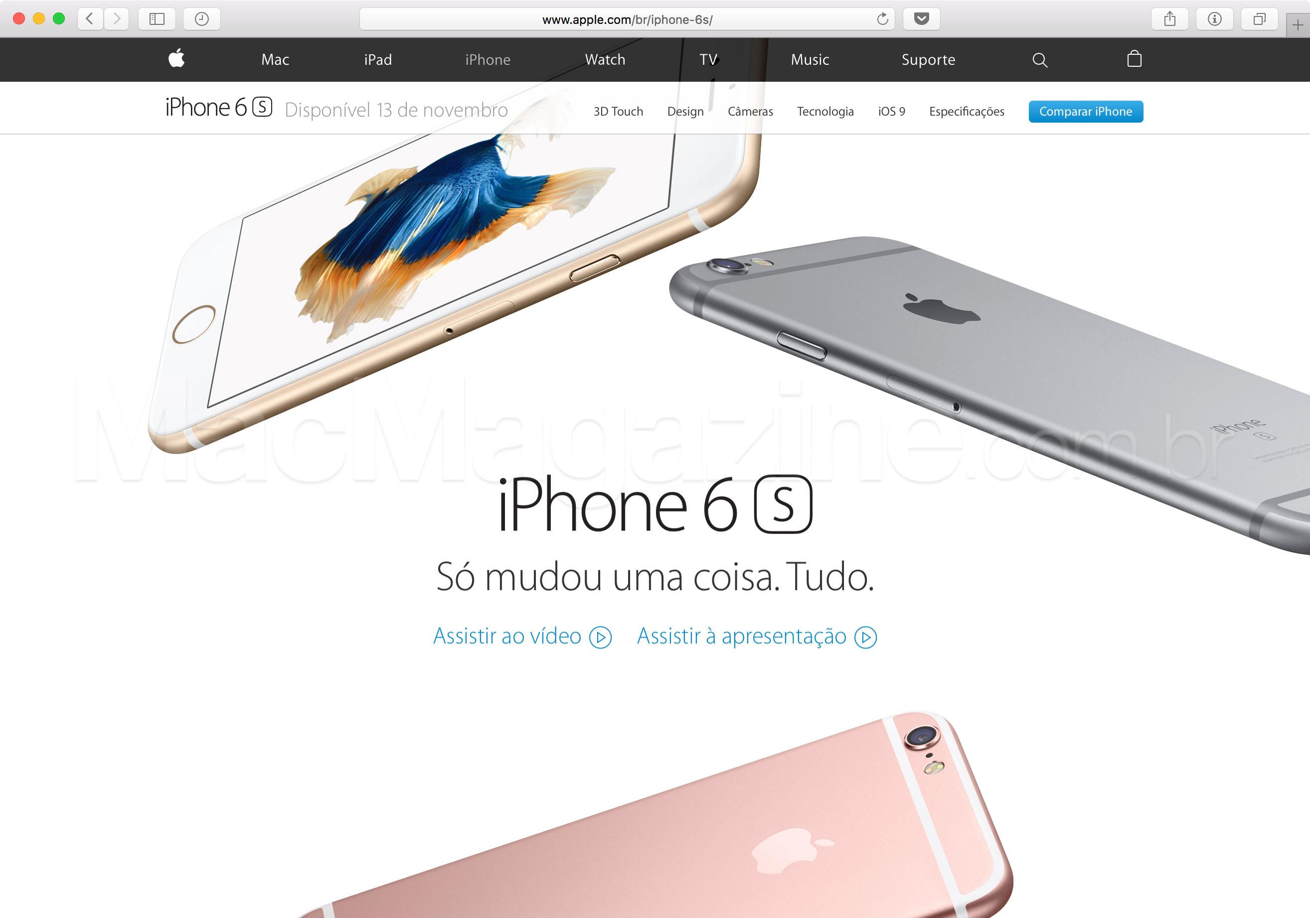 iPhone 6s no Brasil