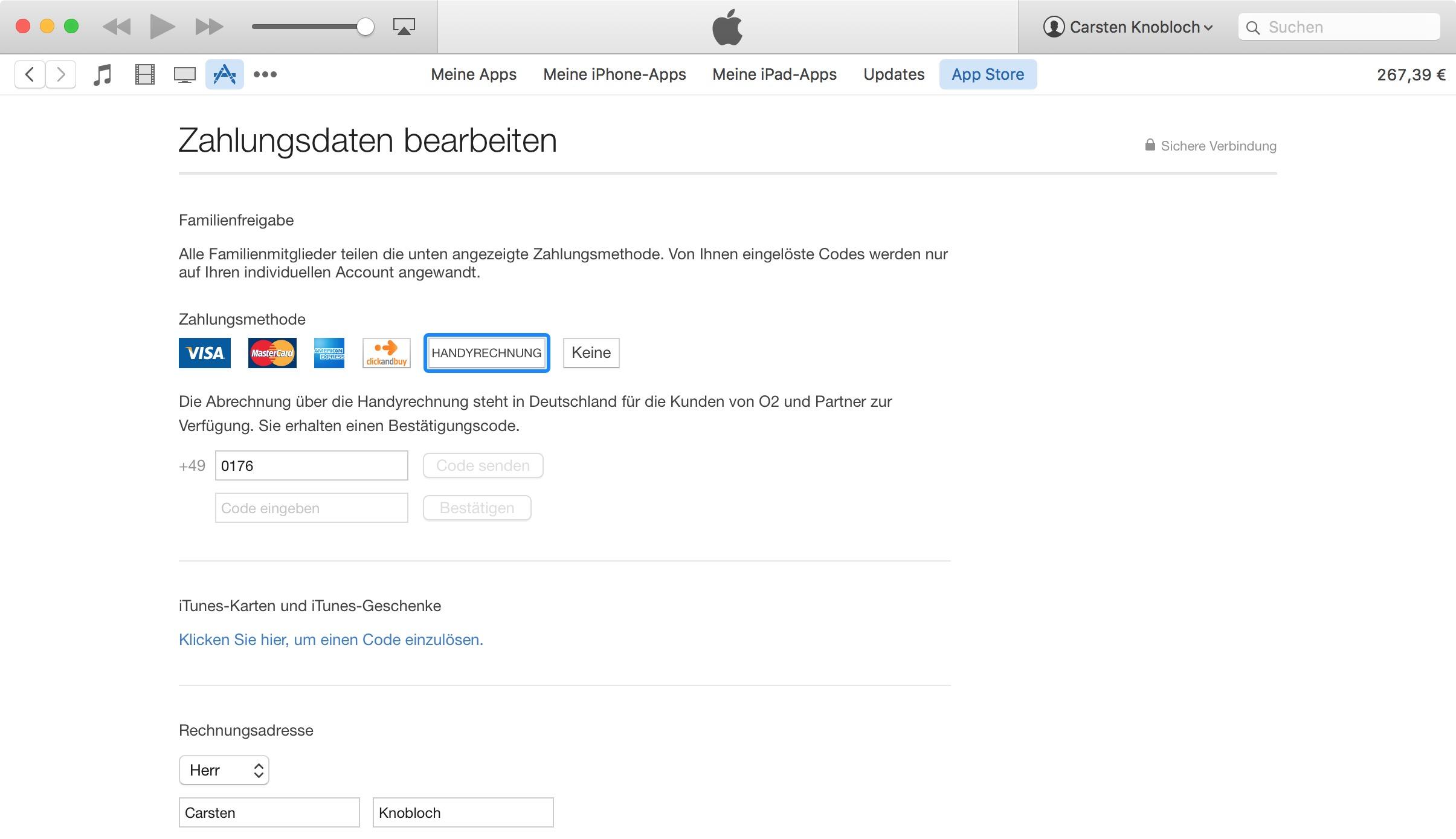 Cobrança na iTunes Store via operadora