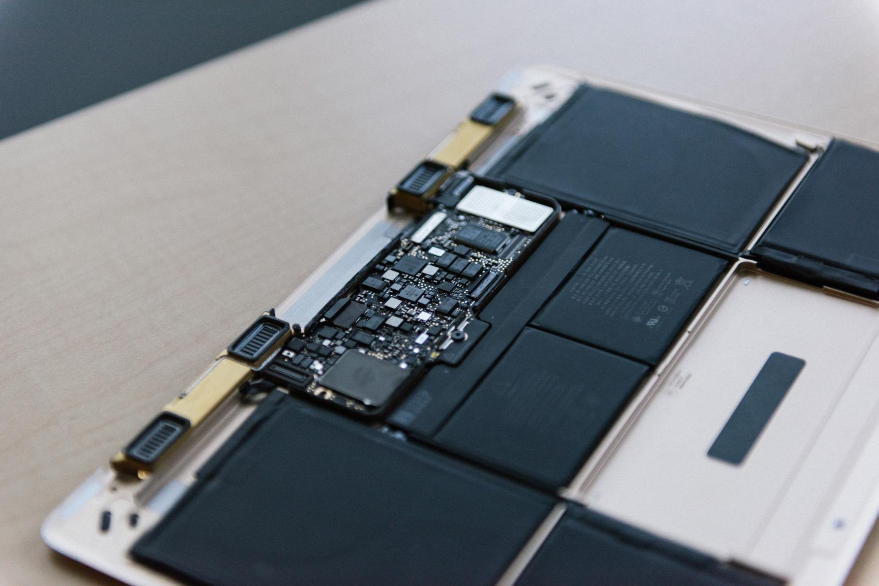 Placa lógica do novo MacBook
