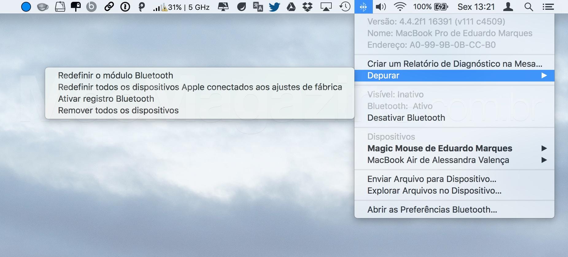 Bluetooth no OS X