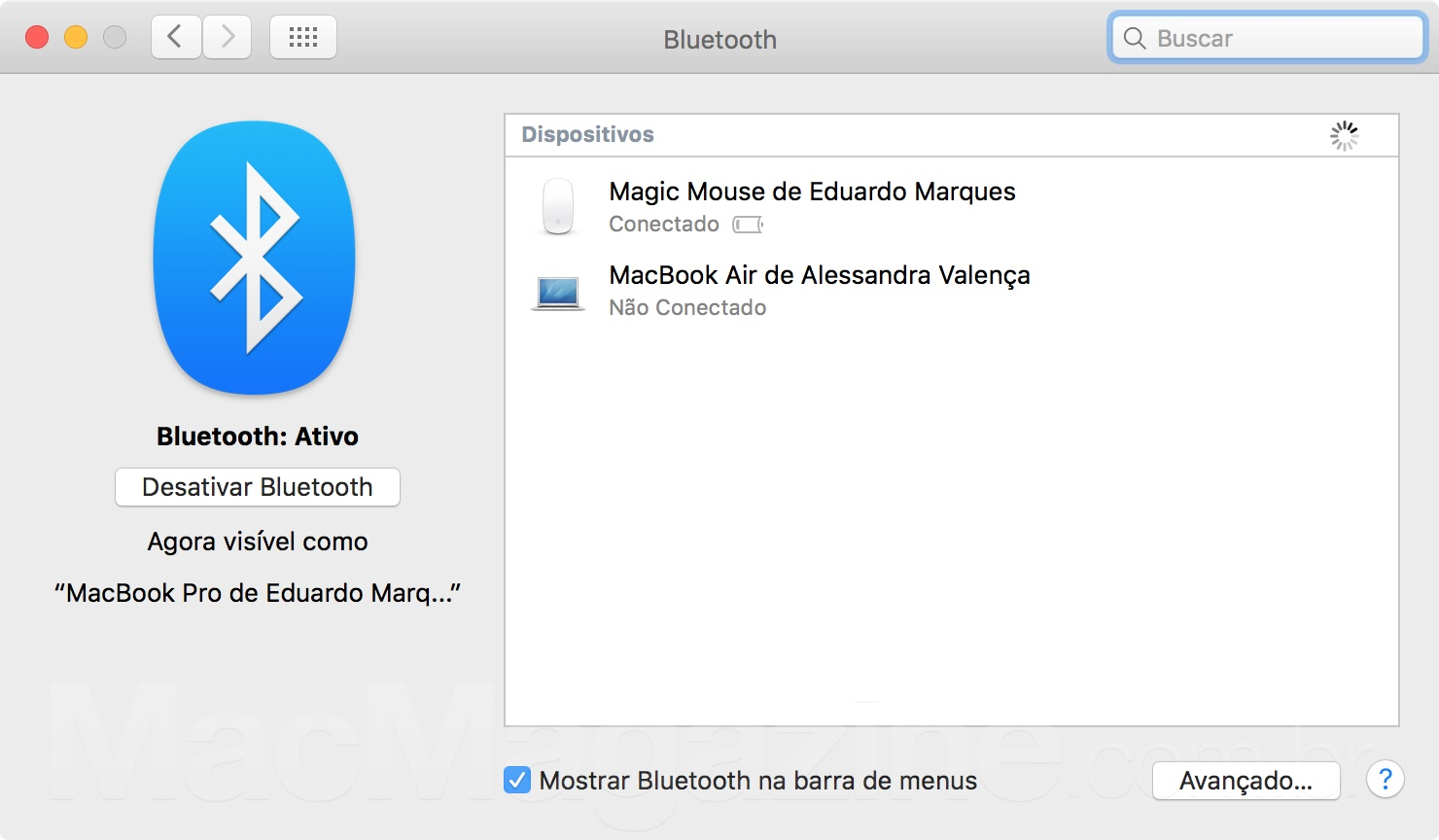 Bluetooth no OS X