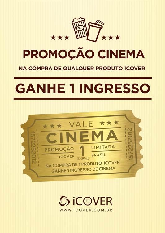 Promoção da iCover - Ingresso de cinema