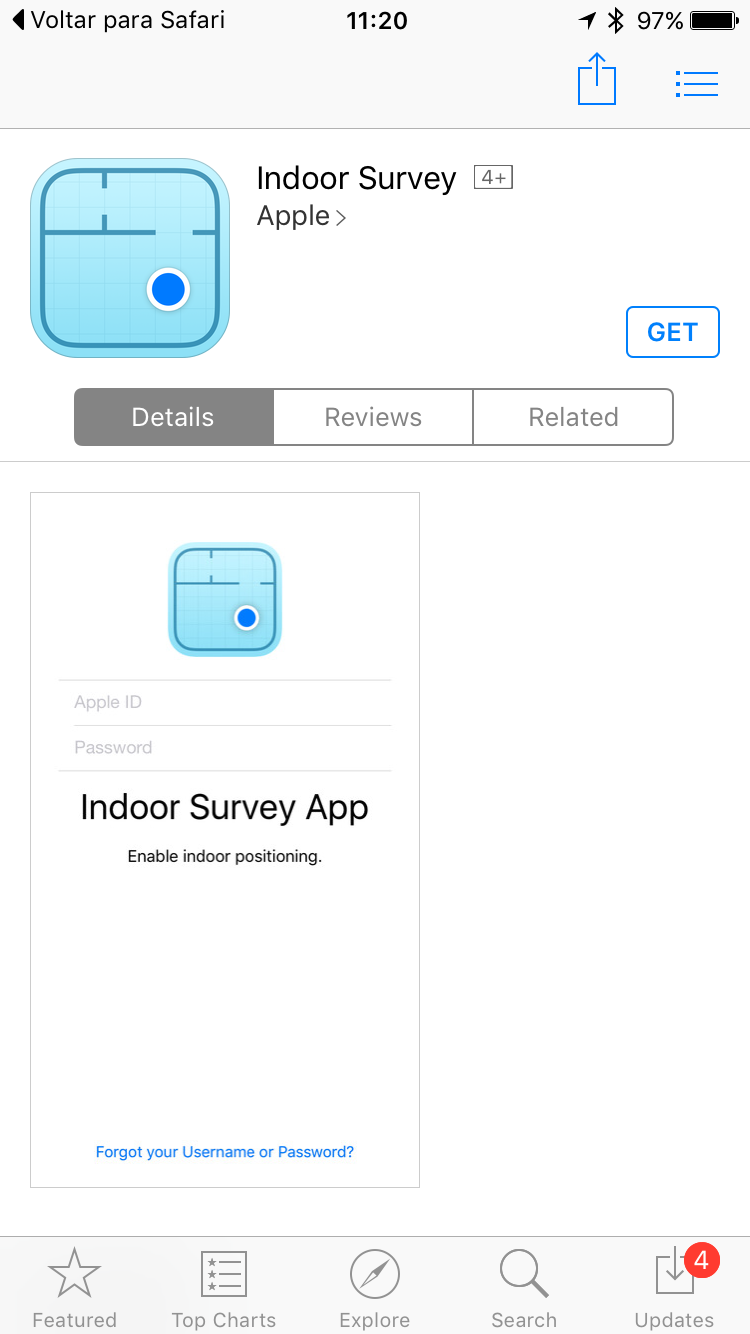 App Indoor Survey, da Apple