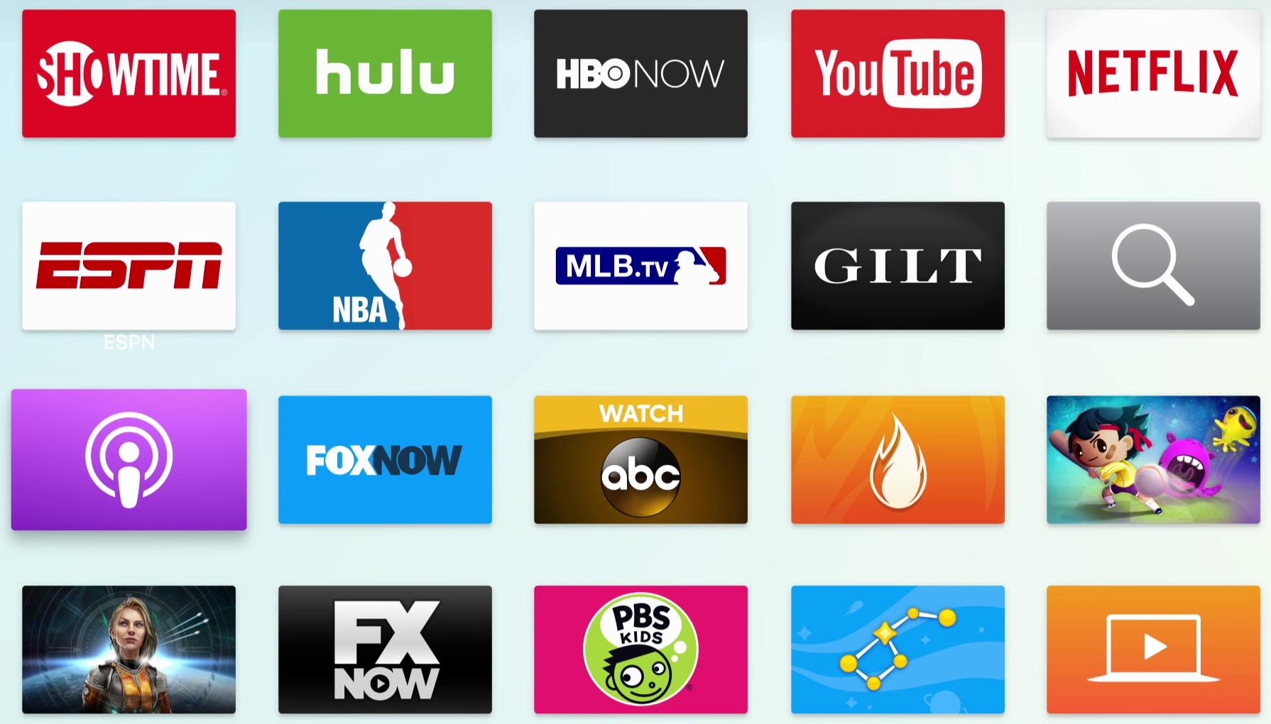 App Podcasts para a Apple TV