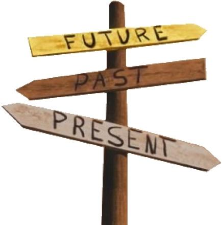 Placas de futuro, passado e presente