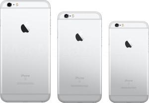 Tamanhos de iPhones lado a lado com modelo de 4 polegadas