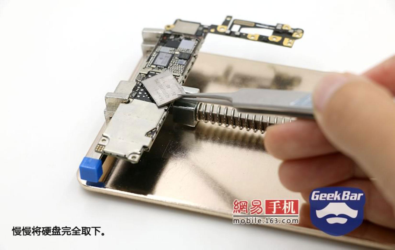 Memória NAND flash de iPhone