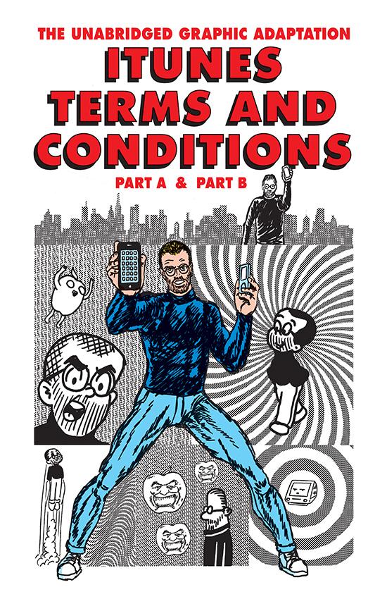 Quadrinhos dos termos e condições do iTunes