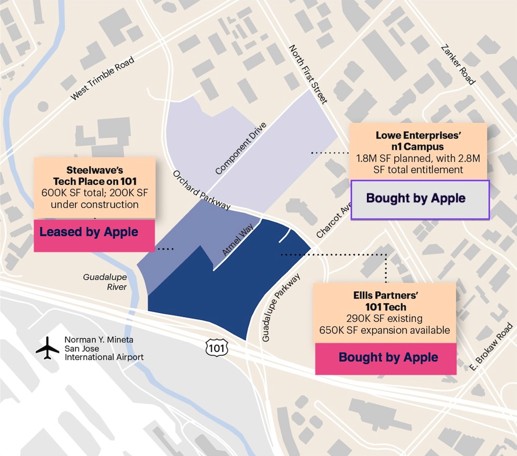 Terreno da Apple em San Jose