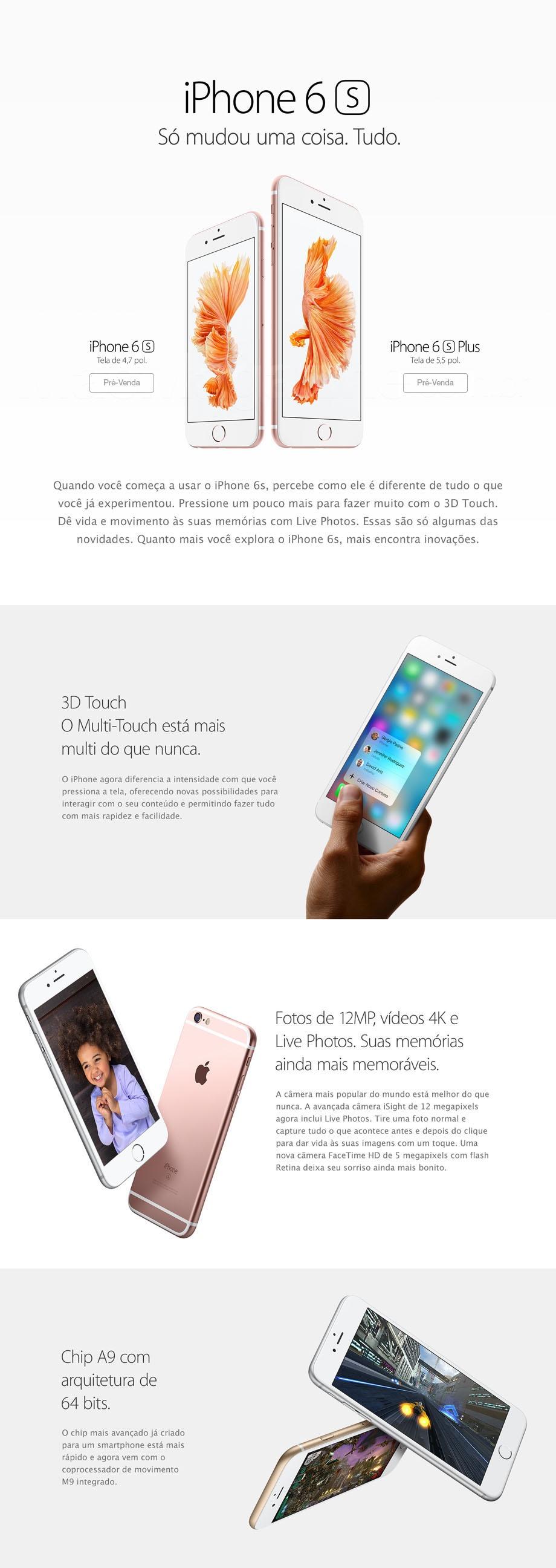 Infográfico do iPhone 6s