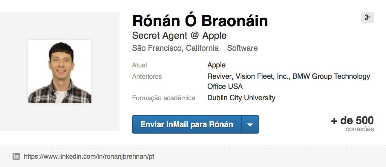 Rónán Ó Braonáin no LinkedIn