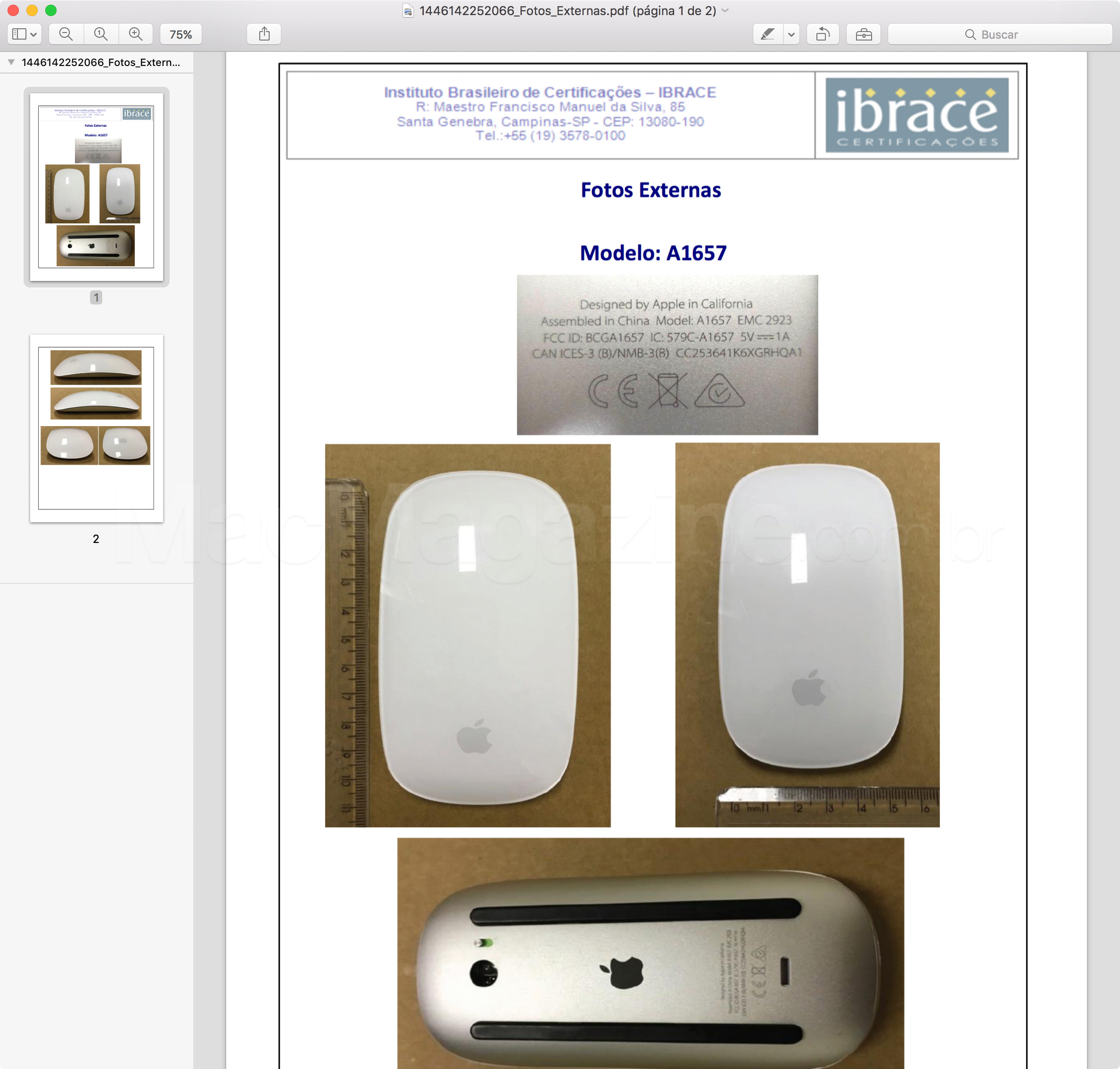 Anatel homologa Magic Mouse 2