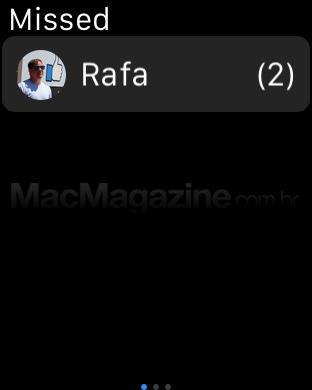 Interações perdidas no Apple Watch