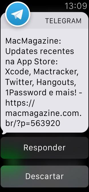 Notificações no Apple Watch