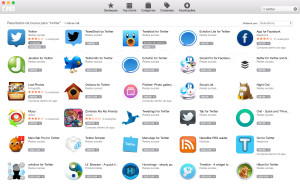 "Busca por ""Twitter"" na Mac App Store"