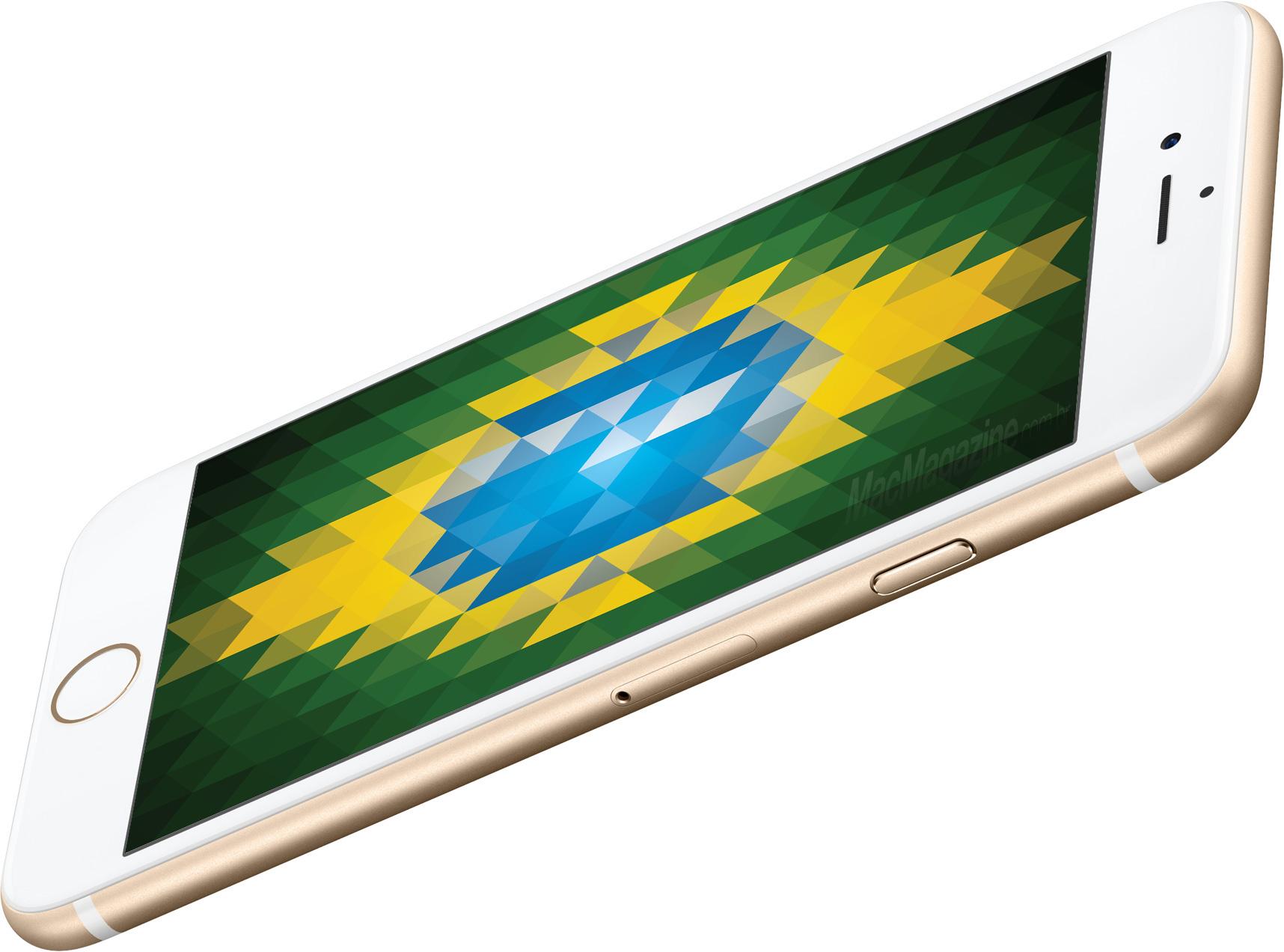 iPhone 6s com a bandeira do Brasil