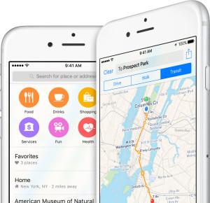 Apple Maps/Mapas em iPhones
