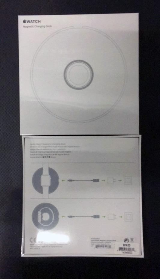 Suposta caixa de um Apple Magnetic Charging Dock