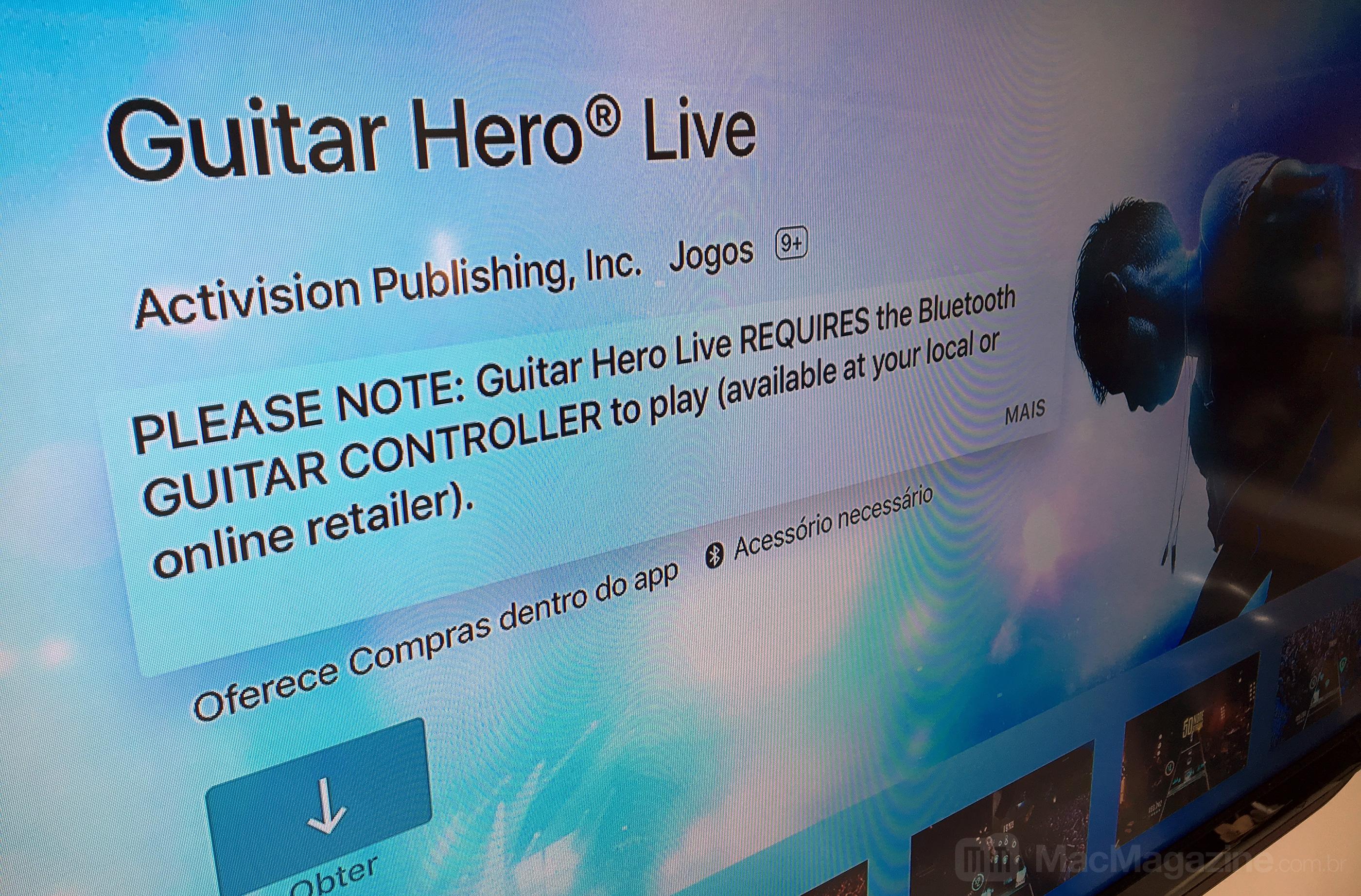Guitar Hero Live na Apple TV