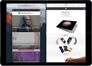 iPad Pro com o Sidefari