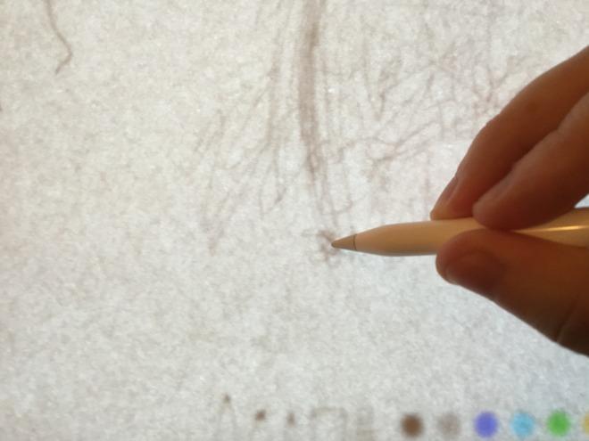 Usando o Apple Pencil com um papel vegetal