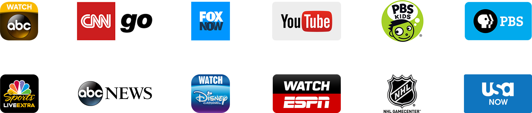 Canais na Apple TV