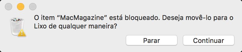 Arquivo bloqueado pelo OS X