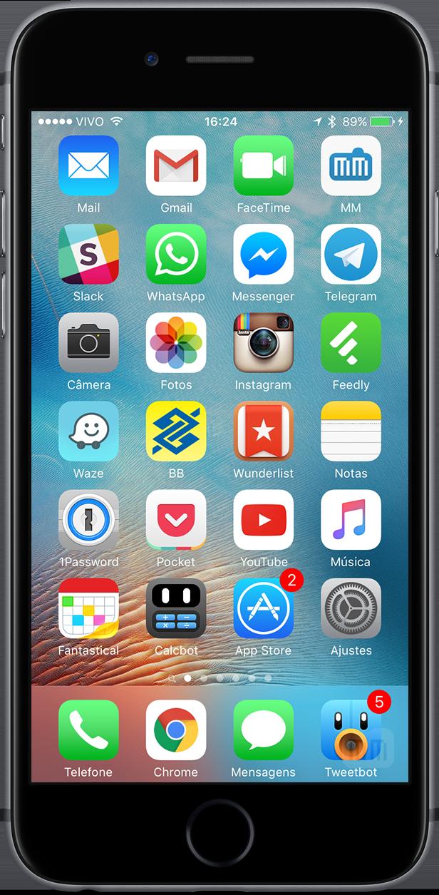 Tela de Início do meu iPhone