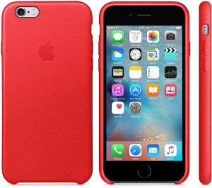 Case vermelha de couro para iPhones 6s (PRODUCT)RED