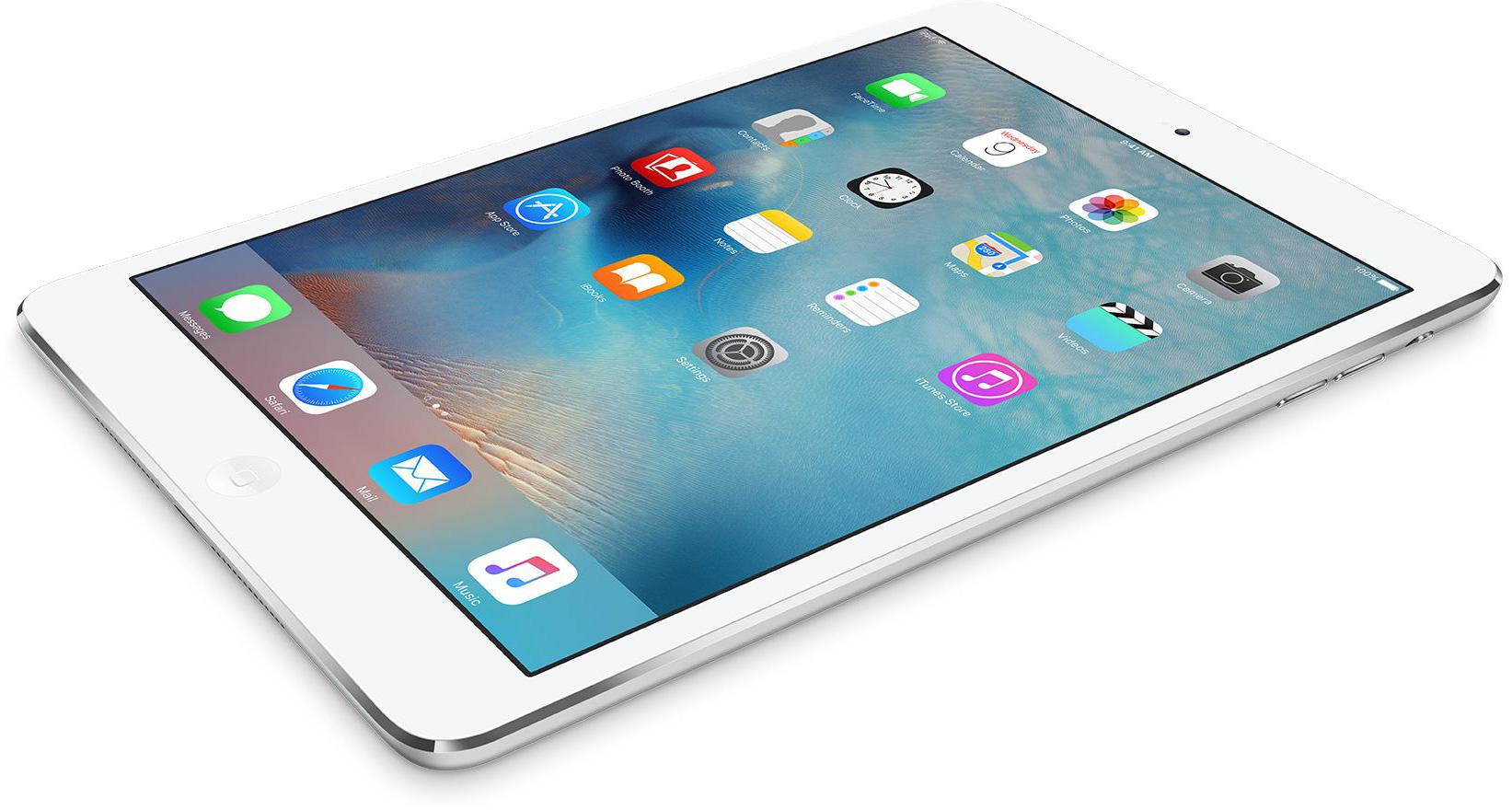 iPad mini 2 branco na diagonal