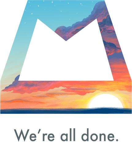 Dropbox Mailbox - We're all done