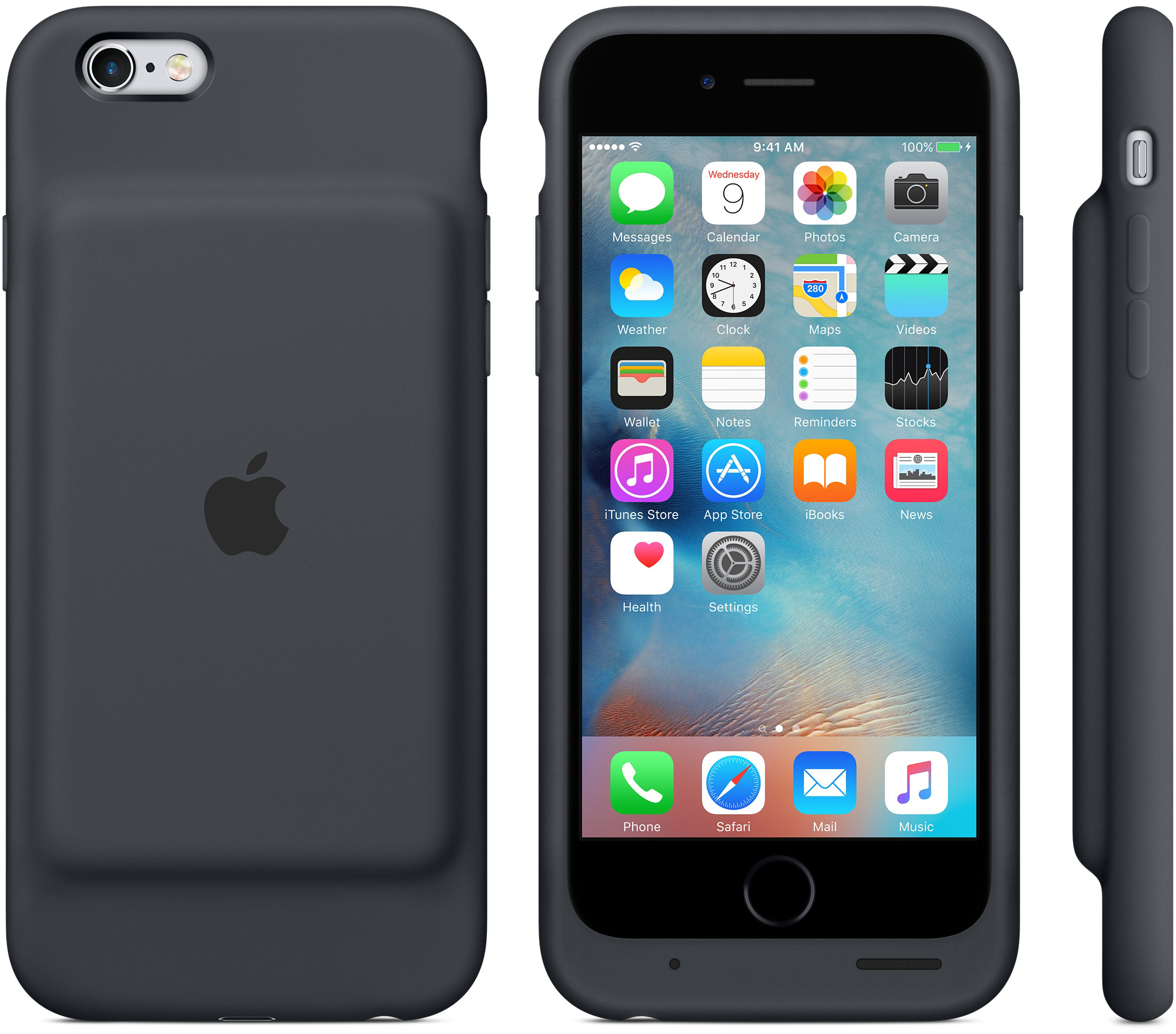 iPhone 6s Smart Battery Case - Charcoal Gray