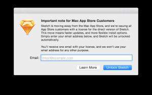 Sketch fora da Mac App Store
