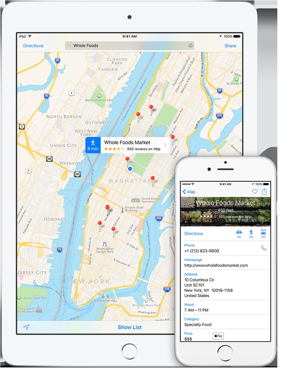Mapas da Apple em iGadgets