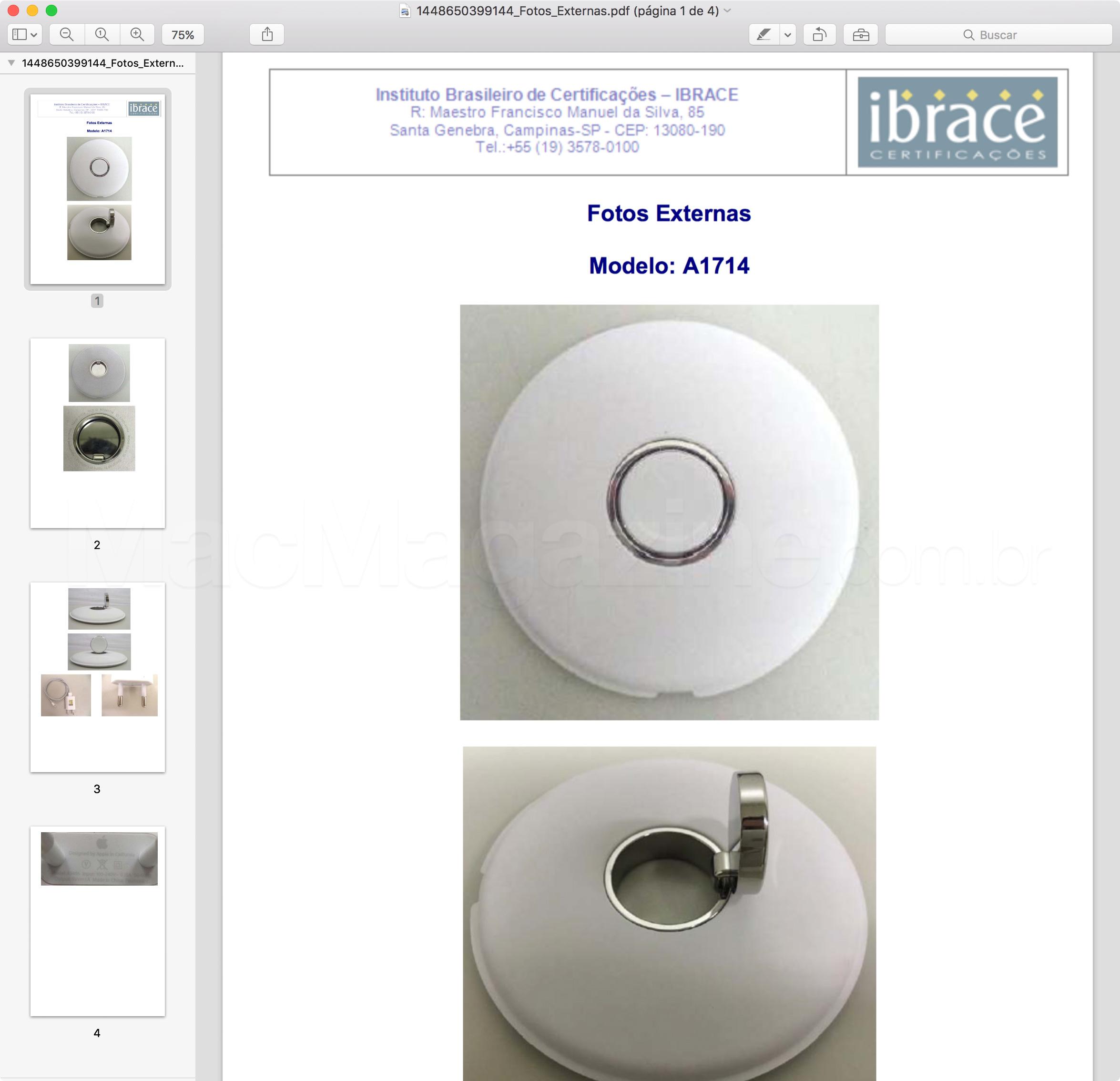Anatel homologa Apple Watch Magnetic Charging Dock