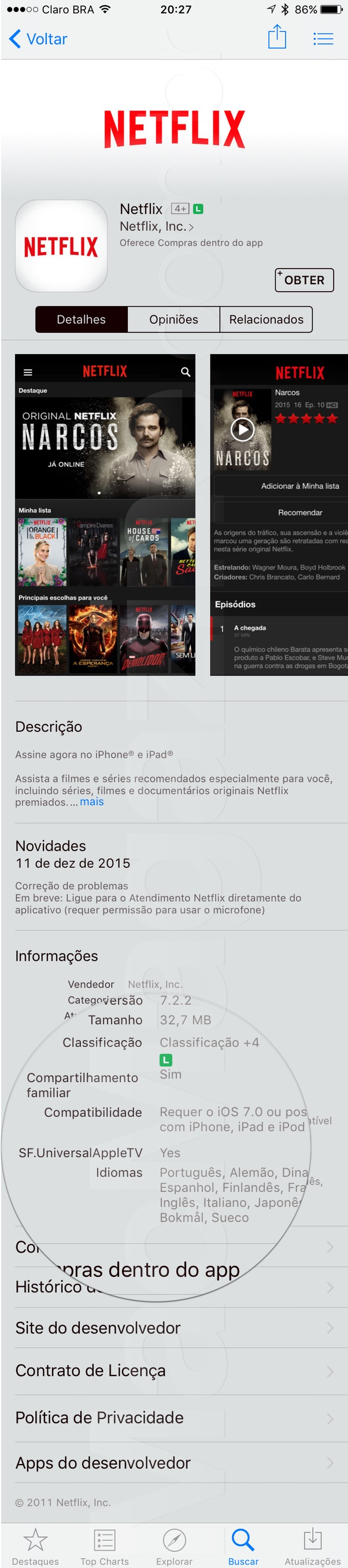 Netflix disponível para tvOS
