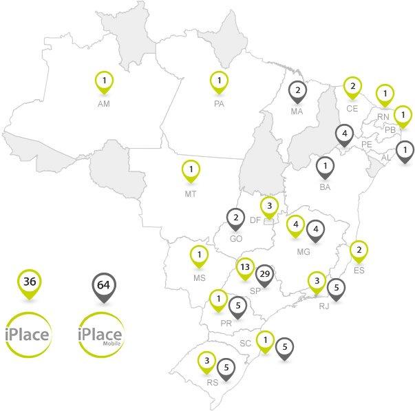 Mapa de lojas iPlace