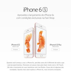 iPhone 6s na Fast Shop