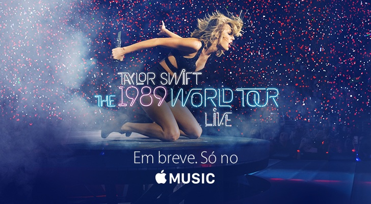 Banner da Taylor Swift no site da Apple