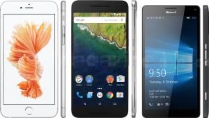 iPhone 6s Plus, Nexus 6P e Lumia 950 XL