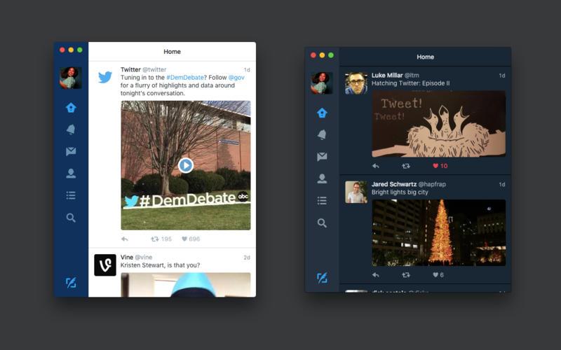App Twitter para OS X