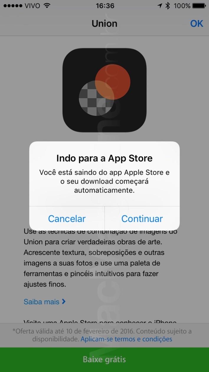 App Union de graça no Apple Store