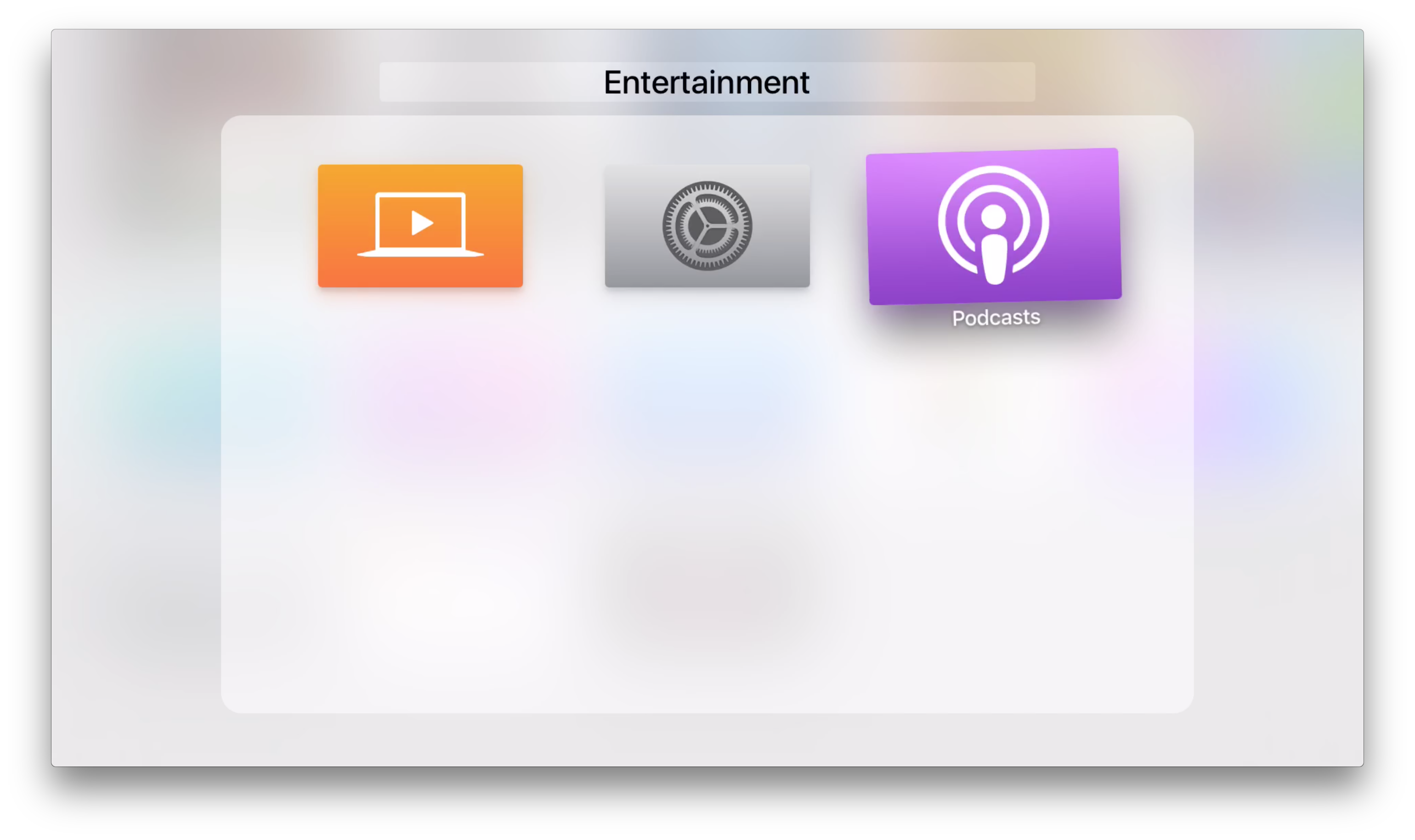 Screenshot do tvOS 9.2 beta