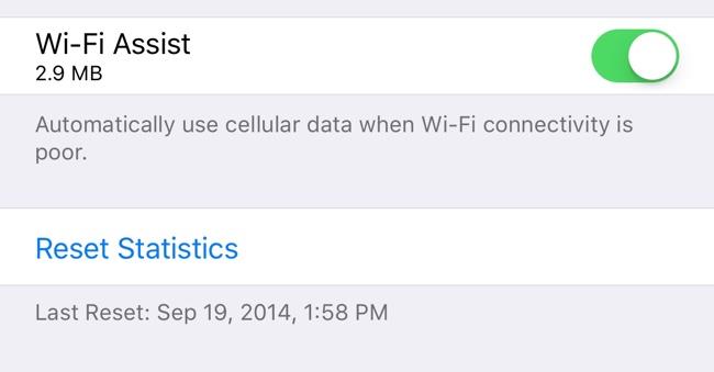 Novas opções do recurso Assistência Wi-Fi