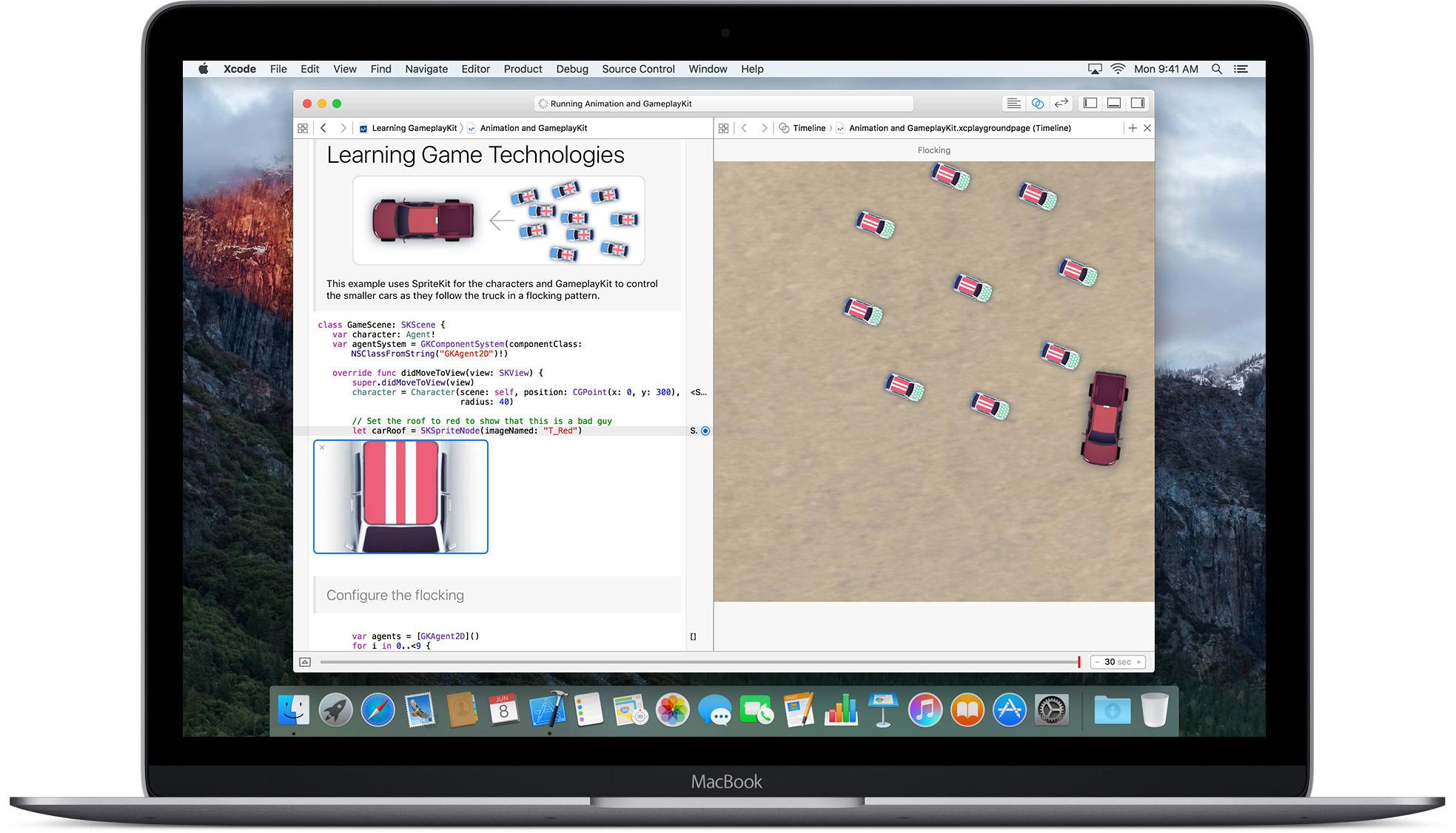 Swift num MacBook